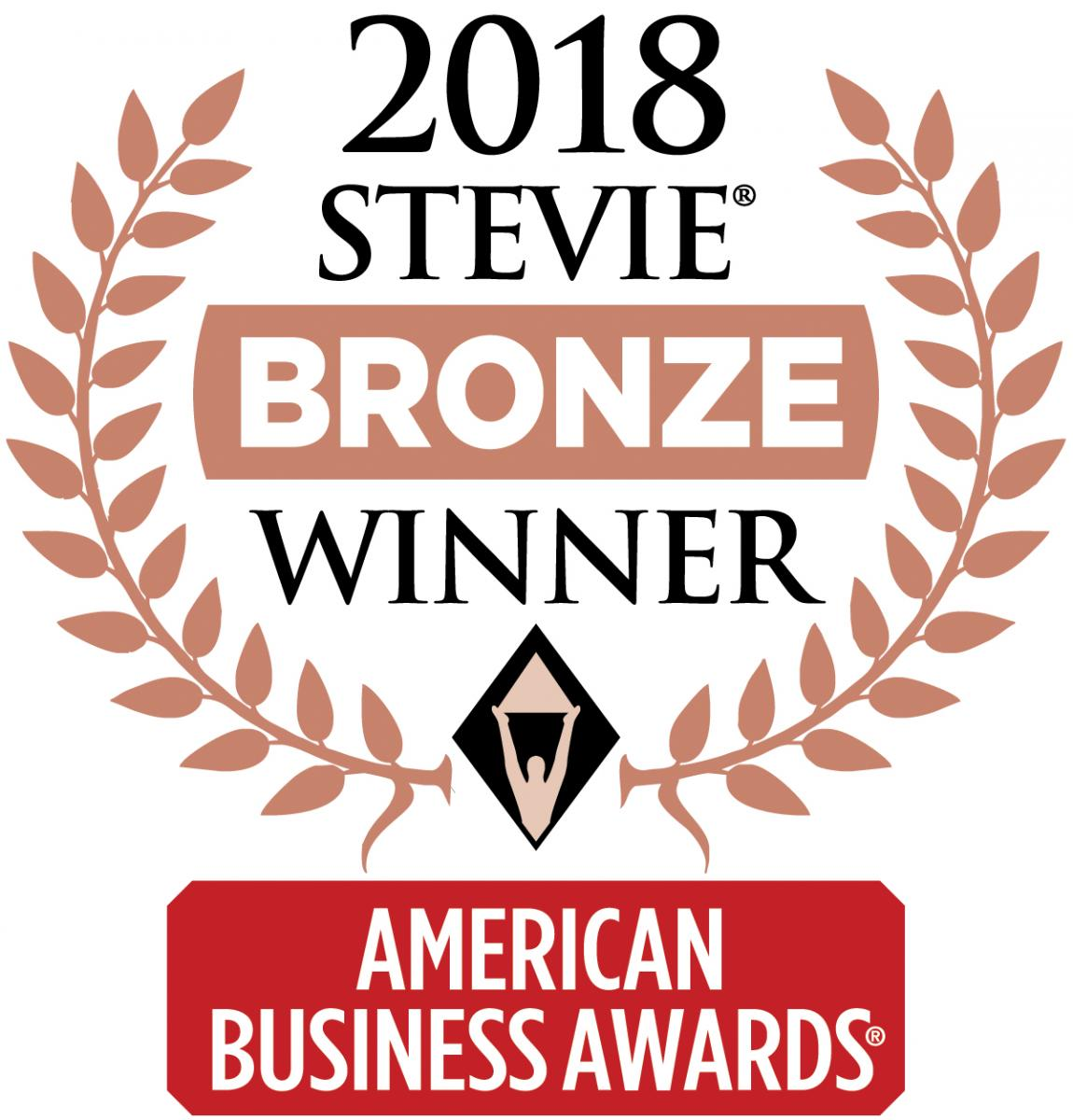 2018 Stevie Award Badge