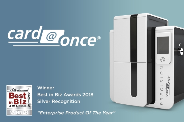 "Card@Once Instant Issuance Wins Silver for Best in Biz ""Enterprise Product of the Year"""